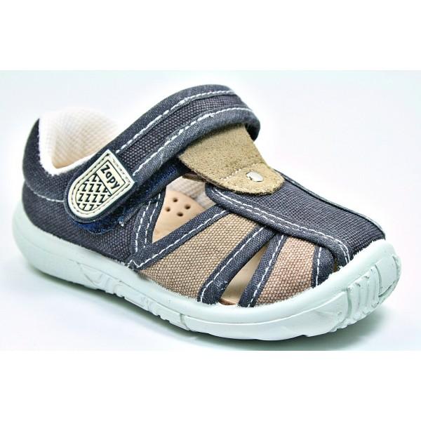 d54ddcc57 Sandalia lona velcro (Zapy) T. 19-33 - Los Zapatos de Candela