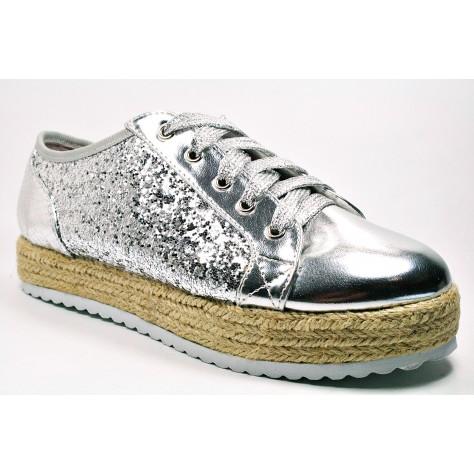 Zapatos mustang De 38 Candela T 31 Glitter Los Plata Zapatilla Oqvp0w40