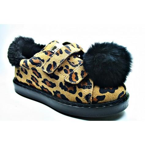 Zapato leopardo velcro (Titanitos) T. 26-35