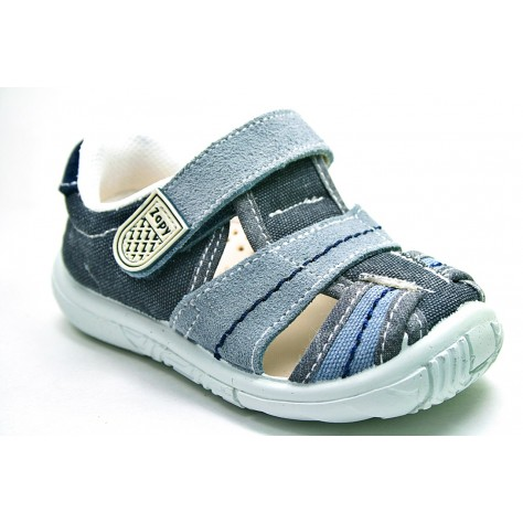 Sandalia de lona con velcro de Zapy